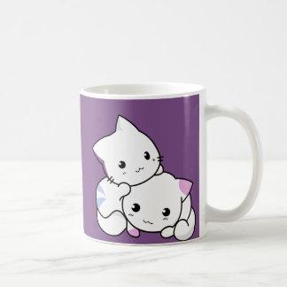 Two cute kawaii kittens coffee mug