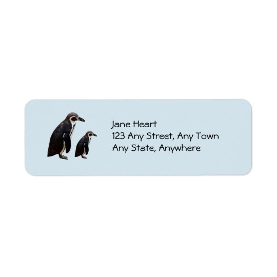 Two Cute Penguins Standing Avery Label Return Address Label