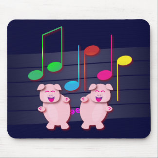 Two cute piglets mouse pad