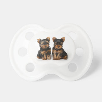 Two cute puppies pacifier