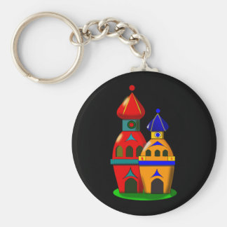 Two cute towers keychain