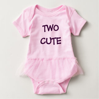 Two Cute Two Cool Girl Twin Set Tutu (Part 1 of 2) Baby Bodysuit