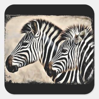 Two Cute Zebras Stickers