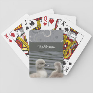 Two Cygnets Playing Cards