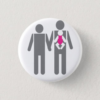 Two Dads and a Daughter 1 Inch Round Button
