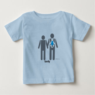 Two Dads and a Son Baby T-Shirt