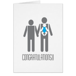 Two Dads and a Son - Congratulations!! Card