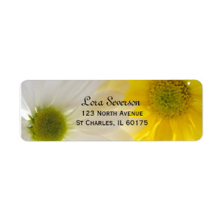 Two Daisies Return Address Label