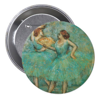 Two Dancers by Edgar Degas 3 Inch Round Button