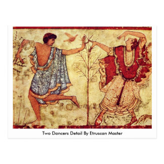 Two Dancers Detail By Etruscan Master Postcard