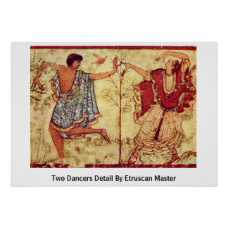 Two Dancers Detail By Etruscan Master Poster