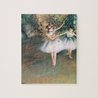 Two Dancers on a Stage by Edgar Degas, Vintage Art Jigsaw Puzzle