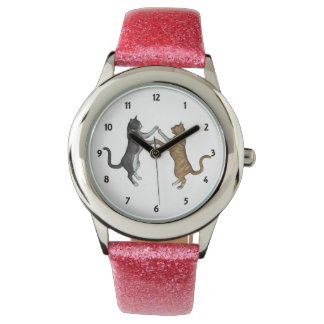Two Dancing Cats Wristwatches