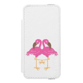 Two dancing flamingos incipio watson™ iPhone 5 wallet case