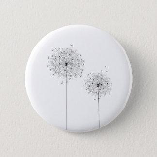 Two Dandelions 2 Inch Round Button