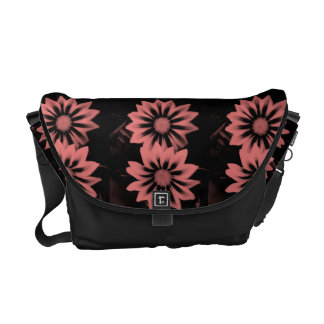 Two Dark Pink Gazania Flowers Courier Bag