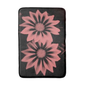 Two Dark Pink Gazanias Bath Mat