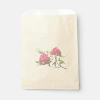 Two Dark Red Rhododendrons Favour Bag