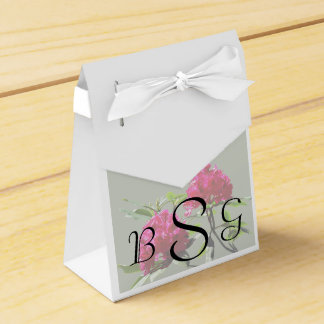 Two Dark Red Rhododendrons Wedding Products Favor Boxes
