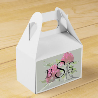 Two Dark Red Rhododendrons Wedding Products Party Favor Boxes
