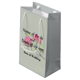 Two Dark Red Rhododendrons Wedding Products Small Gift Bag