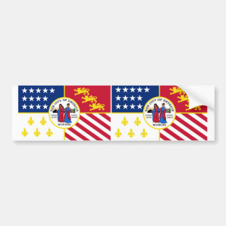 TWO Detroit Flag Bumper Sticker