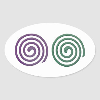 Two different scented mosquito coils oval sticker