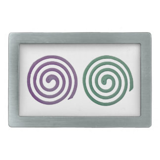 Two different scented mosquito coils rectangular belt buckles