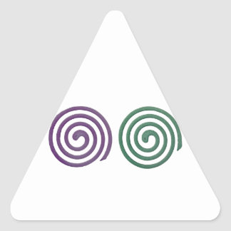 Two different scented mosquito coils triangle sticker