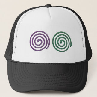 Two different scented mosquito coils trucker hat