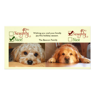 Two dog Christmas card photo template Customized Photo Card