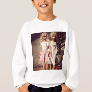 Two Dolls Looking for A New Home Photo Sweatshirt
