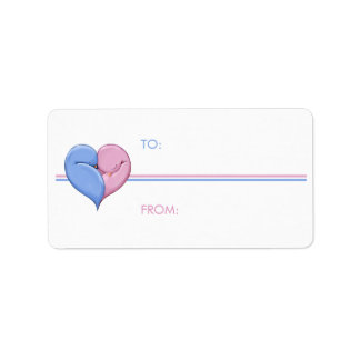 Two Doves One Heart Gift Tag