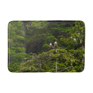 Two Eagles Perched Painterly Bath Mat