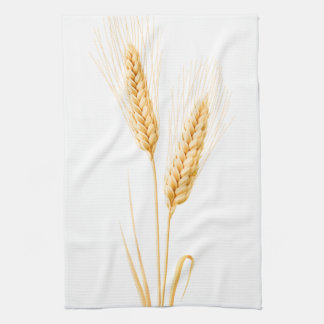 Two ears of wheat kitchen towel