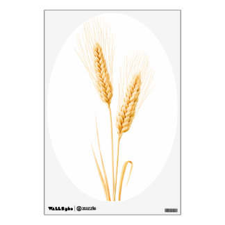 Two ears of wheat wall decal