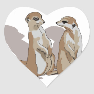 two earth males with shade heart sticker