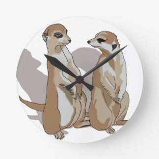 two earth males with shade round clock
