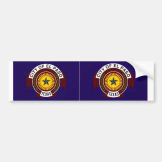 TWO El Paso Flag Bumper Sticker