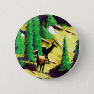 Two Elk In The Sunlight 2 Inch Round Button