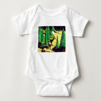 Two Elk In The Sunlight Baby Bodysuit