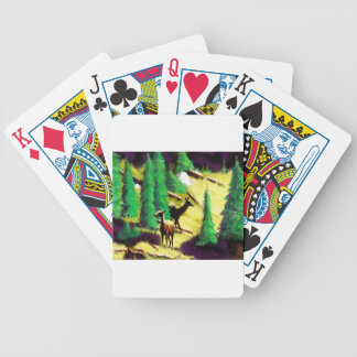 Two Elk In The Sunlight Bicycle Playing Cards