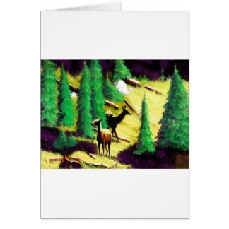 Two Elk In The Sunlight Card