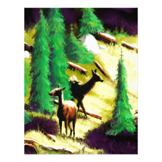 Two Elk In The Sunlight Letterhead