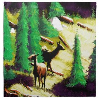 Two Elk In The Sunlight Napkin