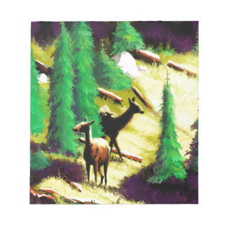 Two Elk In The Sunlight Notepad