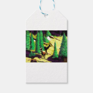 Two Elk In The Sunlight Pack Of Gift Tags