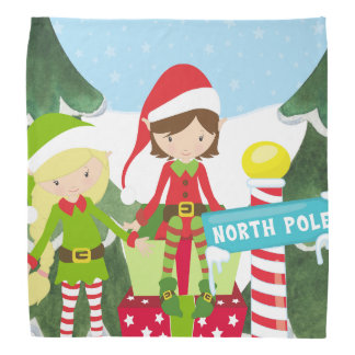 Two Elves at the North Pole Bandana