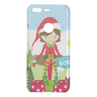 Two Elves at the North Pole Uncommon Google Pixel Case