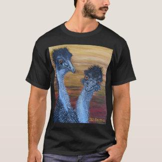 Two Emus Black T-Shirt